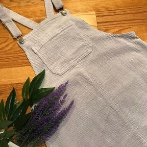 NEW lavender grey overall style minidress